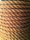 Thick coiled rope Royalty Free Stock Photo