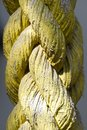 The thick and durable rope was painted yellow Royalty Free Stock Photo