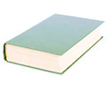 Thick green book lying isolated with blank hardcover on white background Royalty Free Stock Image