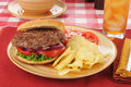Thick hamburger Royalty Free Stock Photography