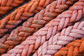 Thick Orange Rope Royalty Free Stock Photography