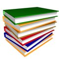Thick pile of colorful books Royalty Free Stock Photography