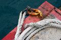 Thick rope and chain Royalty Free Stock Images