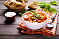 Thick soup with beans Royalty Free Stock Photo