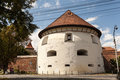 Thick tower in sibiu german dicker turm is a built the sixteenth century the city of which was part of the Stock Photo