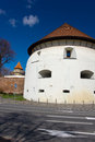Thick Tower in Sibiu, Transylvania, Romania Stock Photos