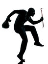 Thief criminal terrorist aiming gun man Stock Image