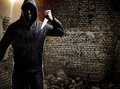 Thief in a dark alley Royalty Free Stock Image
