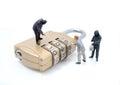 Thief man miniature figure concept steal data