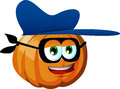 Thief pumpkin with mask vector style illustrated vector format is available Stock Photos