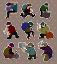 Thief stickers Royalty Free Stock Photography