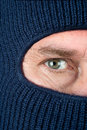 Thief wearing ski mask Royalty Free Stock Photo