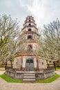 Thien mu pagoda heaven fairy lady pagoda in hue city vietnam unesco world heritage site Stock Image