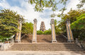 Thien mu pagoda hue vietnam unesco world heritage site main entrance of city Royalty Free Stock Images
