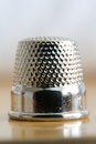 Thimble detail laid chrome Royalty Free Stock Image