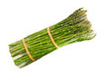 Thin asparagus bundle of pencil isolated on white background Royalty Free Stock Photography