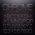 Thin Chrome Font Royalty Free Stock Photo