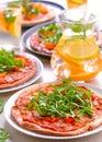 Oven fresh vegan Pizzas Royalty Free Stock Photo