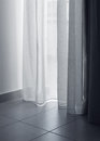 Thin curtains soft light Stock Image