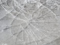 Thin ice radial cracks Royalty Free Stock Images