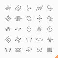 Thin line arrows icons Royalty Free Stock Photo