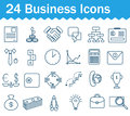 Thin line business icons set. Outline icon