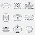 Thin line food emblems