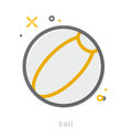 Thin line icons, Ball