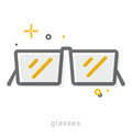 Thin line icons, Glasses