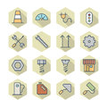 Thin line icons for industrial vector eps Stock Images