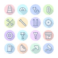 Thin line icons for industrial vector eps Royalty Free Stock Images