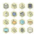 Thin line icons for interface vector eps Stock Photography