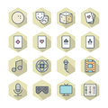 Thin line icons for leisure vector eps Royalty Free Stock Photography