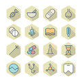 Thin line icons for medical vector eps Stock Photo