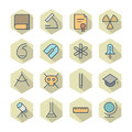 Thin line icons for science and education vector eps Stock Photos