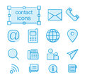 Thin line icons set, contact