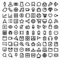Thin line icons set illustration eps Royalty Free Stock Images