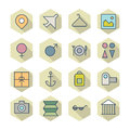 Thin line icons for travel and resort vector eps Royalty Free Stock Photography