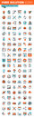 Thin line web icons for design and development Royalty Free Stock Photo