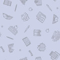 Thin lined book seamless pattern.