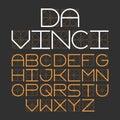 Thin modern font Da Vinci