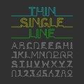 Thin Single Line font