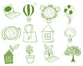 Things around the environment illustration of on a white background Royalty Free Stock Photo