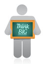 Think big holding illustration design over a white background Stock Images