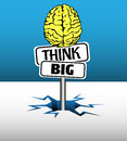Think big plate Royalty Free Stock Photo