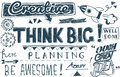 Think Big Positive Believe Attitude Concept
