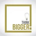 think bigger idea bulb text box concept