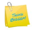Think bigger post illustration design Royalty Free Stock Photo