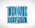 Think different d text illustration design over a white background Royalty Free Stock Photos