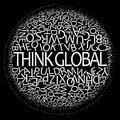 Think global concept Royalty Free Stock Photography